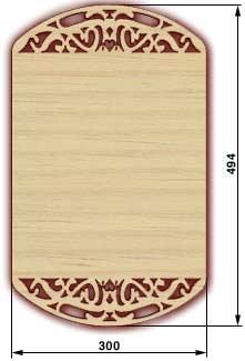 Сувенирные доски, резные доски - доска 11